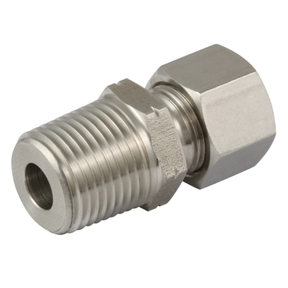 Male Stud Couplings, S Series, NPT, Thread Size 1/8'', OD 8mm