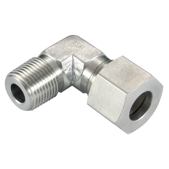 Male Stud Elbows, S Series, BSPT, Thread Size 3/4'', OD 20mm