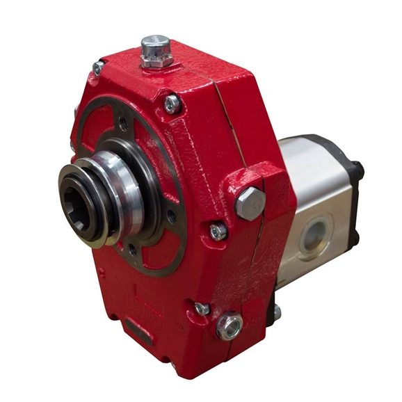 Flowfit Group 3, Cast Iron Hydraulic PTO Gearbox and Pump Assembly, 26cc, 42.12 L/Min, 20.48 kW Output