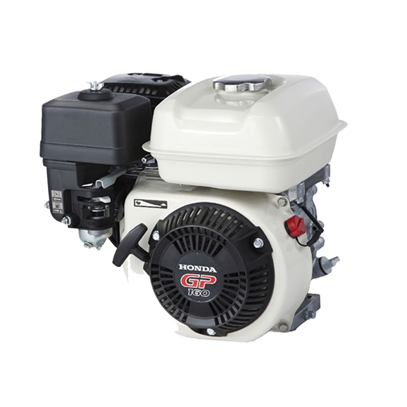 Genuine Honda 5.5 HP Single Cylinder 4 Stroke Air Cooled Petrol Engine, Recoil Start, Horizontal Mount (White)