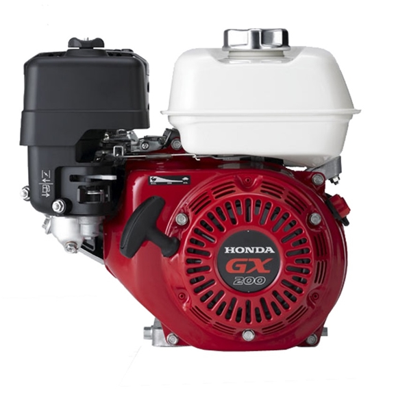 Genuine Honda 6.5 HP Single Cylinder 4 Stroke Air Cooled Petrol Engine, Recoil Start, Horizontal Mount (Red)