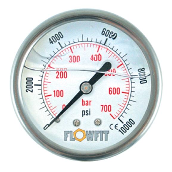 100mm Glycerine Filled Hydraulic Pressure Gauge 0 14500 PSI 1000 BAR 1