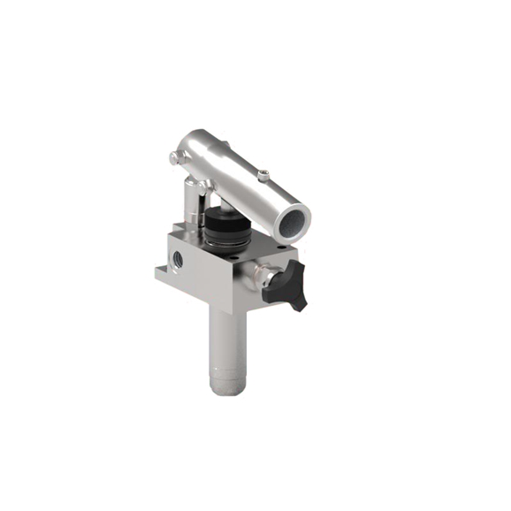 GL Stainless Steel Double Stroke Handpump for Single Acting Cylinder with Release Handknob
