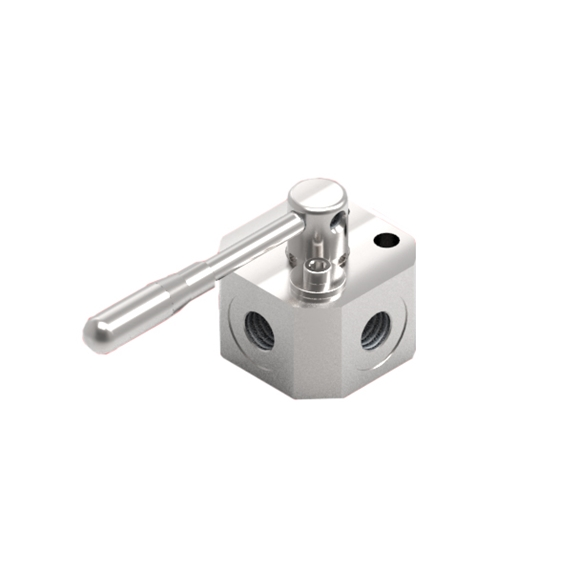 "GL Stainless Steel 3 Way, High Pressure Flow Divider, 3/8"" BSP Ports with Open Centre Distributor"