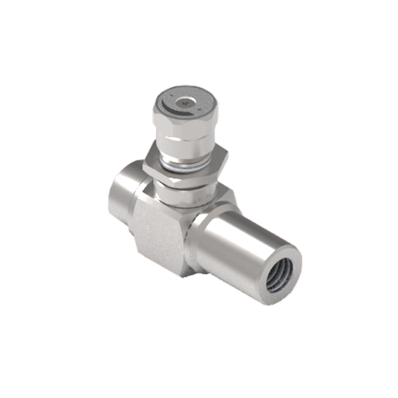 "GL Stainless Steel 90? Bidirectional Flow Control Valve, 1/4"" BSP Ports"