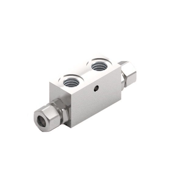 "GL Stainless Steel Pilot Operated Check Valve, Double Acting, 1/4"" BSP with Seal on Piston Port"