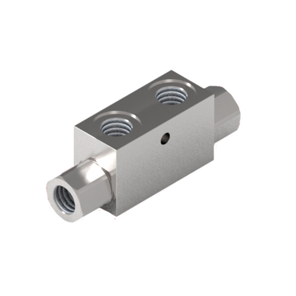 "GL Stainless Steel Pilot Operated Check Valve, Double Acting, 1/4"" BSP without Seal On Pilot Piston"