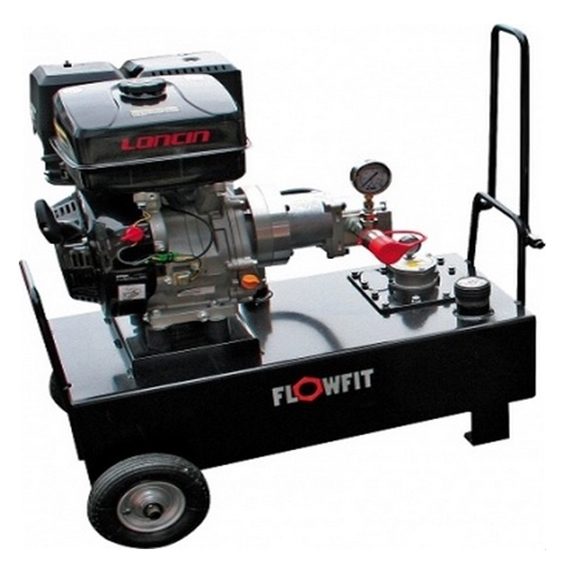 Loncin Petrol Engine Driven, Hydraulic Double Acting Power Unit, 13HP, 25.5 L/Min, 50L Tank