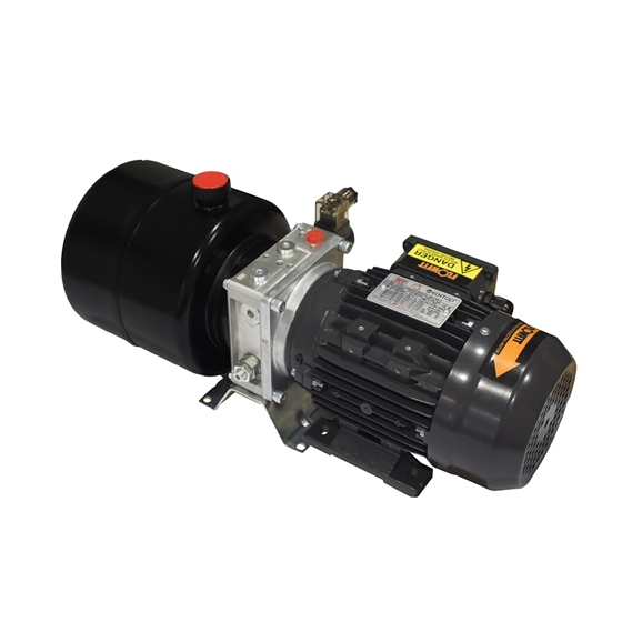 Flowfit Hydraulic AC Power unit, 415v, 3 phase, Single Acting Circuit, 0.55Kw, 1.08L/min