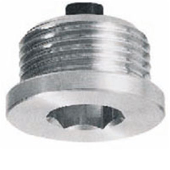 "Hydraulic magnetic oil-drain plug with hex slot, 1/8"" BSP, TCEM0G"