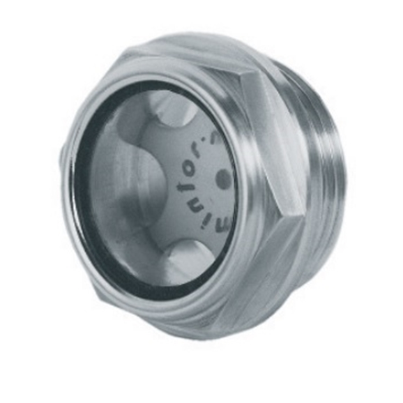 "Hydraulic visual level indicator with milled head, 1/2"" BSP"