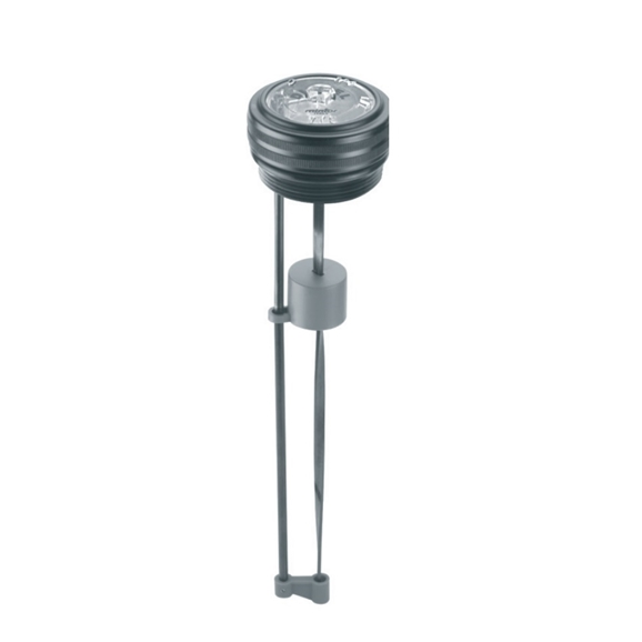 Hydraulic visual level indicator with float system, 60x2 METRIC, L=200, for use with Oil