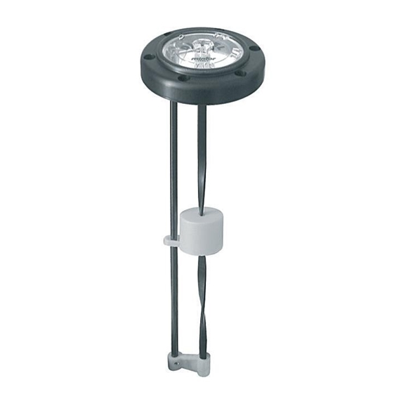 Flanged level indicator with float system length 203, for use with Oil