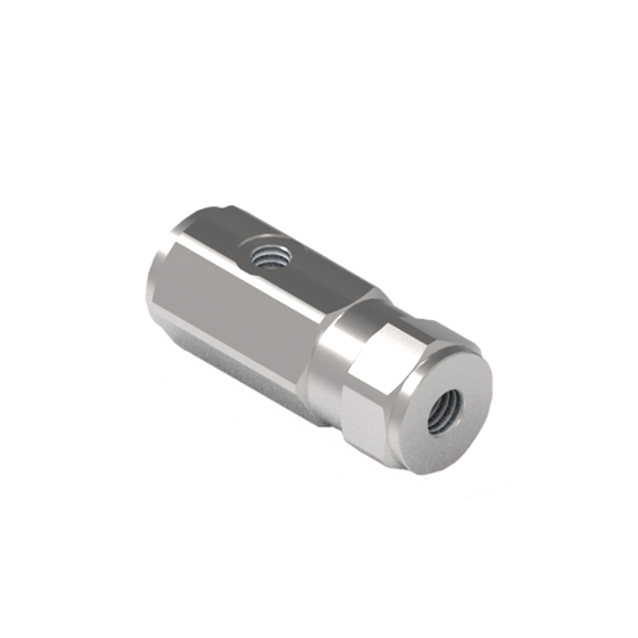 "GL Stainless Steel Inline Pilot Operated Check Valve, Single Acting, 3/8"" BSP Ports"