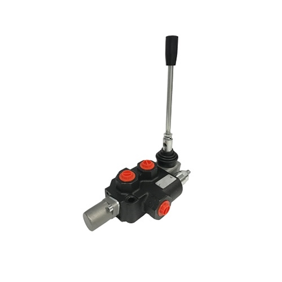 "Flowfit 1 Bank, 3/8"" BSP, 45 l/min Double Acting 3 Position Spring Return Lever Operated Hydraulic Monoblock Valve"