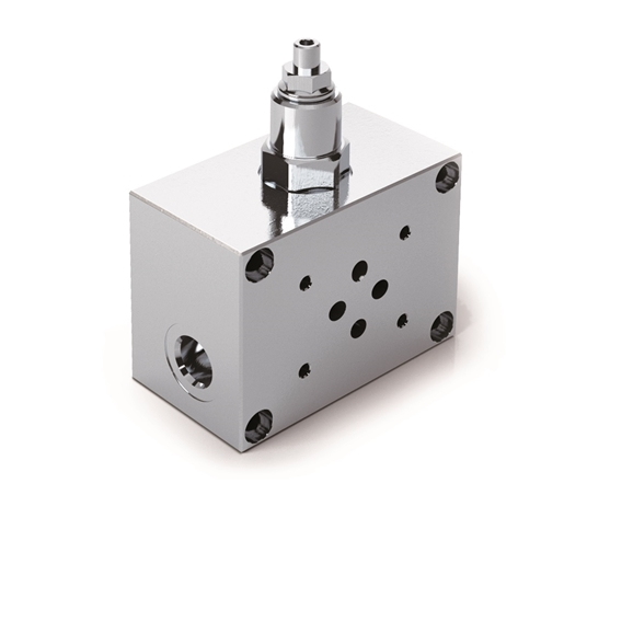 Cetop 5 NG10 1 Station Subplate with Relief Valve