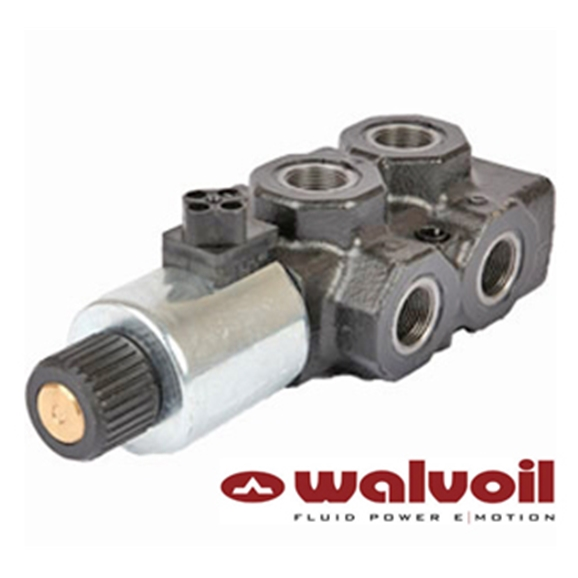 "Walvoil 6 Way Solenoid Diverter, 3/8"" BSP, 24V DC, Closed Centre"