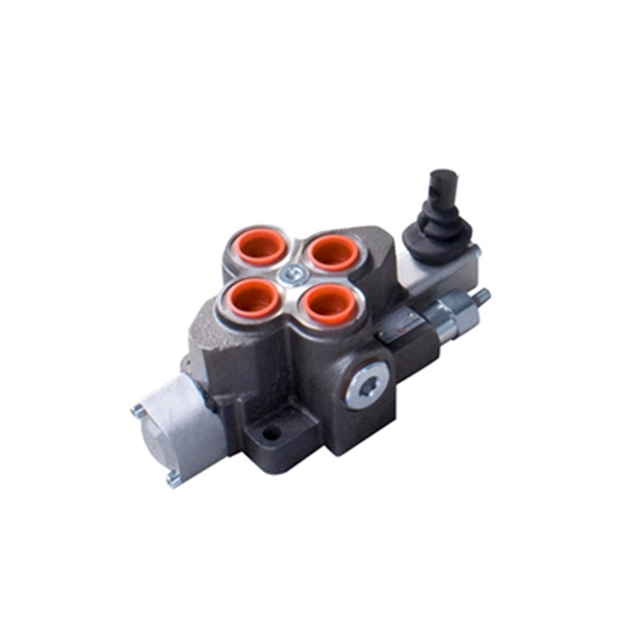 "Bucher 1 Bank 3/4"" BSP, 100 l/min Double Acting Spring Return Lever Operated Hydraulic Monoblock Valve"