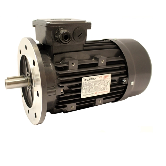 Three Phase 400v Electric Motor, 0.37Kw 4 Pole 1500rpm With Flange Mount