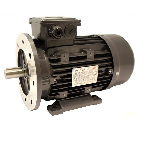 Three Phase 400v Electric Motor, 2.2Kw 4 Pole 1500rpm, D90, With Flange And Foot Mount