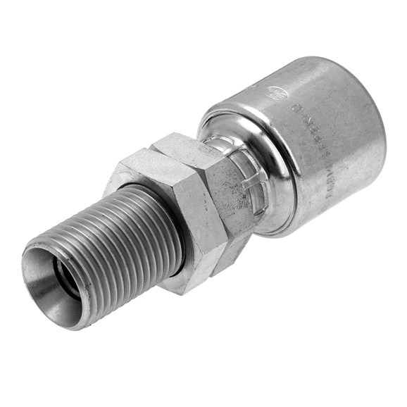"Gates BSP Male Bulkhead with Locknut, Fixed Hose Coupling, 3/4"" Hose x 3/4"" BSP"