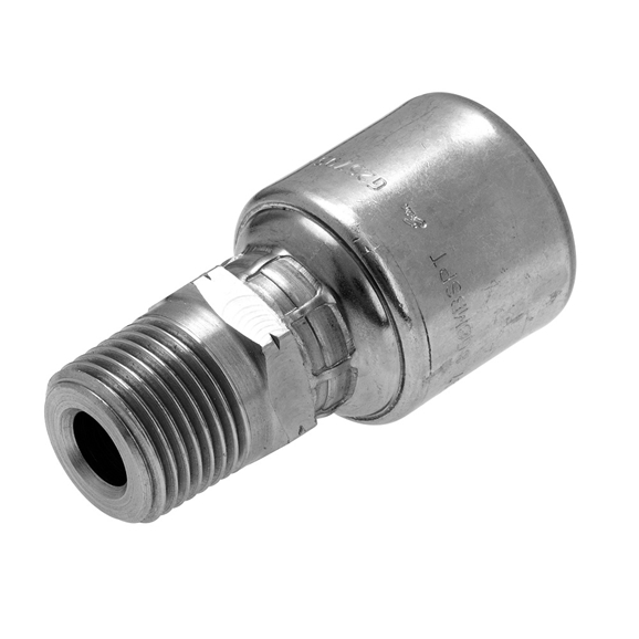 "Gates BSPT Male Taper, Fixed Hose Coupling, 3/4"" Hose x 3/4"" BSPT"