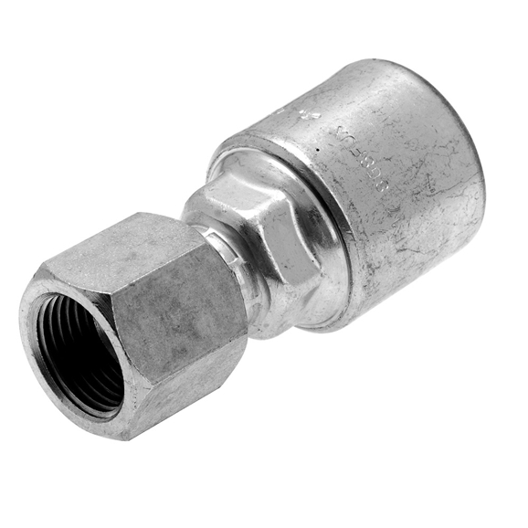 "Gates JIC Female Swivel 37° cone, Straight Hose Coupling, 5/8"" Hose x 7/8"" JIC"
