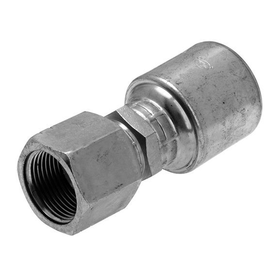 "Gates JIS Metric Female Swivel, Straight Hose Coupling, 5/8"" Hose x M24 x 1.5"" Metric"