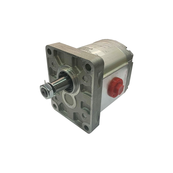 Hydraulic Gear Pump, Group 1, BSP Threaded Ports 1 1:8 Taper 4 Bolt Flange 0.9CC, Clockwise