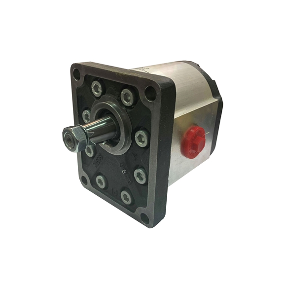 Hydraulic Gear Pump, Group 3, BSP Threaded Ports 1 1:8 Taper 4 Bolt Flange 77CC, Clockwise